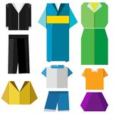 Colorful origami clothes set vector on white. Colorful origami clothes vector on white background Stock Photography