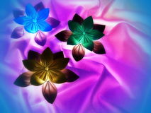 Colorful origami flowers Royalty Free Stock Photos