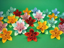 Colorful origami flowers Stock Images