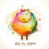 Colorful origami goat for Eid-Al-Adha celebration. Royalty Free Stock Image