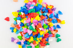 Colorful origami heart Stock Image