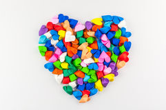 Colorful origami heart. On white background Royalty Free Stock Photos