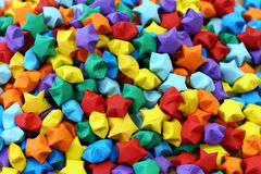 Colorful origami lucky star Royalty Free Stock Image