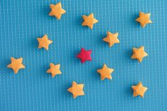 Colorful origami lucky stars stock photography