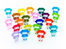 Colorful Origami Ninja Royalty Free Stock Image