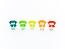 Colorful Origami Ninja Royalty Free Stock Photography