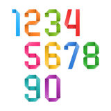 Colorful origami numbers Stock Image