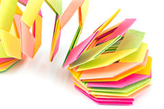 Colorful origami paper octagon shapes Royalty Free Stock Image