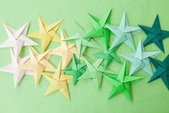 Free Colorful Origami Stars Royalty Free Stock Photos - 73370718