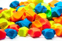 Colorful Origami Stars Royalty Free Stock Photos