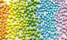 Colorful origami stars pattern background Royalty Free Stock Photo