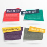 Colorful origami style abstract banners collection. Vector illustration Royalty Free Stock Photo