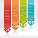 Colorful Origami Style Number Banner. Stock Photography