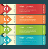 Colorful Origami Style Options Banner. Stock Image