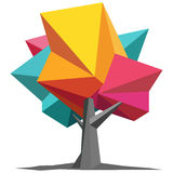 Colorful Origami Tree Stock Photography
