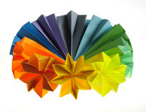 Colorful origami units Royalty Free Stock Image