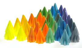 Colorful origami units stock image