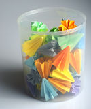 Colorful origami units Royalty Free Stock Images