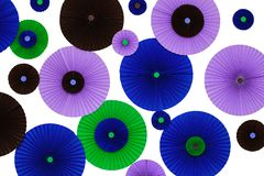 Colorful origami wall decoration Royalty Free Stock Photography