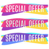 Colorful and original Special offer banners set. Stock Images