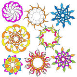 Colorful Ornament Collection Stock Photography