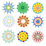 Colorful ornament collection Royalty Free Stock Photos