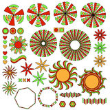 Colorful ornament collection Royalty Free Stock Image