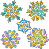 Colorful Ornament Collection Stock Photo