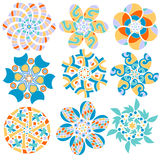 Colorful ornament collection Stock Image