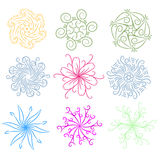 Colorful ornament collection Royalty Free Stock Images