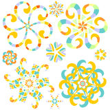 Colorful ornament collectuon with hearts Stock Photo