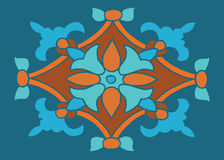 Colorful ornament in color floral motif for clothing or tile or Royalty Free Stock Image