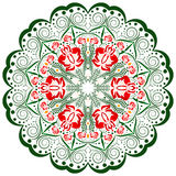 Colorful ornament design element, mandala. Ornament design element, mandala on white and transparent background stock illustration
