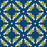 Colorful ornament pattern vector tile Stock Image