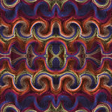 Colorful ornament symmetric seamless pattern Royalty Free Stock Photos
