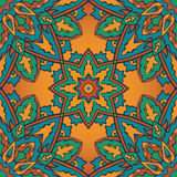 Colorful  ornament. Traditional, colorful ,  ornament. Seamless pattern of mandalas with colored elements. Template for shawl, carpet, wallpaper Royalty Free Stock Photos