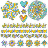 Colorful Ornament and Trim Collection Stock Photography