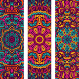 Colorful ornamental ethnic banners. Festive Tribal vintage colorful ornamental ethnic banners Stock Image