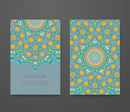 beautiful vector card colorful ornamental ethnic booklet set royalty free illustration