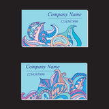 Colorful ornamental ethnic cards set. Templates with doodle Royalty Free Stock Photos