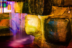 Colorful Ornamental Pool Lights Royalty Free Stock Image