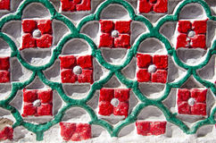 Colorful ornamental wall background in India Royalty Free Stock Photos