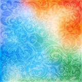 Colorful ornamented background Royalty Free Stock Photo