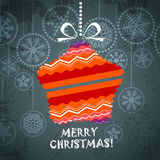 Colorful ornamented Christmas toy Royalty Free Stock Photo