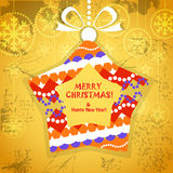 Colorful ornamented Christmas toy Royalty Free Stock Images