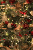 Colorful ornaments on Christmas tree Stock Image