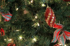 Colorful ornaments on Christmas tree Royalty Free Stock Photo