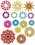 Colorful ornaments collection Royalty Free Stock Images