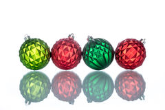 Colorful and ornate christmas ball Reflection Royalty Free Stock Photo