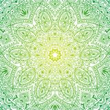 Colorful ornate mandala in oriental style. Backdrop can be used for World Environment Day Stock Images